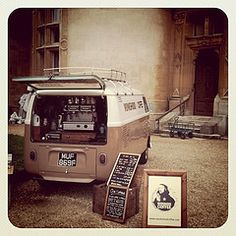 Coffee van - for Waddesdon event - ready to serve delicious drinks