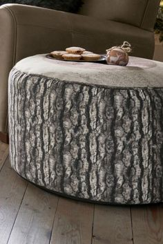 You don't HAVE to live in a cottage to have those cosy, rustic feels in your home this winter - our printed log drum is your answer!