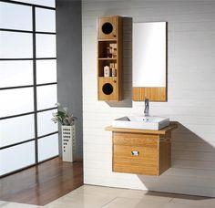 Wall Mount Bamboo Bathroom Vanity Cabinet Set FH-BM04 - http://cgi.ebay.com/Wall-Mount-Bamboo-Bathroom-Vanity-Cabinet-Set-FH-BM04-/120582106475