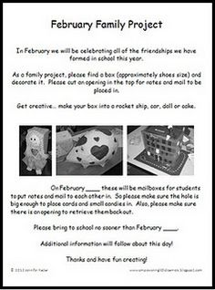 Free Valentine's Day Family Project, creating amazing boxes to collect Valentines or Friendship Cards!
