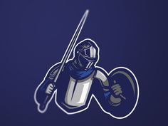 medieval knight esport mascot logo designed by masmascot. Connect with them on Dribbble; Mascot Design, Logo Design, Graphic Design, Knight Logo, Spartan Warrior, Youtube Logo, Medieval Knight, Passion Project, Grim Reaper