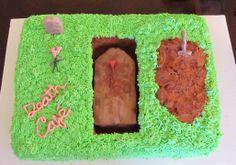 Anita Larson, Celebrant  ~Denver Death Cafe Cake created by Julie for the January 2014 gathering at Feldman Mortuary.