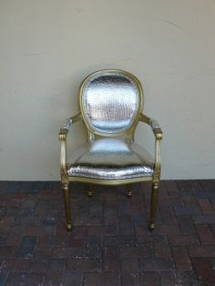 Silver + Gold chair