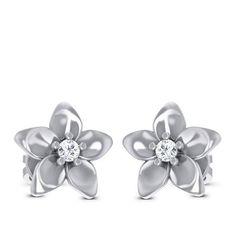Buy Summer Floral Diamond Earring Diamond Solitaire Earrings, Stud Earrings, Jewels, Floral, Summer, Summer Time, Jewerly, Stud Earring, Flowers