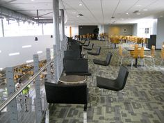 quieter space upstairs for meetings, study or socializing