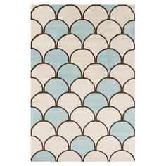 Wool rug with an Art Deco-style fan motif and cotton backing.    Product: RugConstruction Material: 100% Wool...