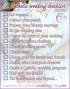 Great Idea For Catholic Couples Looking A Perfect Wedding