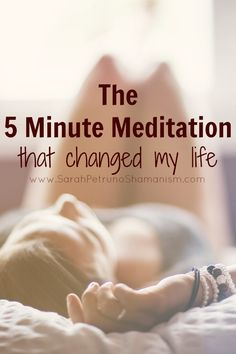 When I was 24, I learned a meditation that changed my life. It was the first thing that ever worked for my anxiety, and it wasn't medication. It's simple, quick, and only takes 5 minutes - and it works.