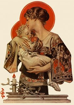 Painting done in 1922. J. C. Leyendecker (1874-1951). Illustrator and entrepreneur. One of the pre-eminent American illustrators of the early 20th century.