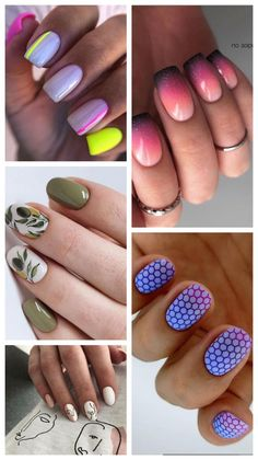 This summer the trends are very similar to the ones we saw last year. Unique patterns are still trendy, but try to keep it delicate and elegant. Hot Nail Designs, Simple Nail Designs, Super Cute Nails, Cute Diy Projects, Hot Nails, Cute Diys, Simple Nails, Fashion Beauty, Manicure