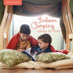 Too hot outside or can't get away? Why not camp indoors? iMOM shares indoor camping ideas for kids for you to try this summer, or even on a rainy day!