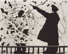 William Kentridge (South African, b. 1955), Nose, 2009. Aquatint, drypoint and engraving 13.73 x 15.75 in. Edition of 50.