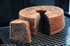 Ultra light cake with a subtle hint of chocolate. Great for an afternoon tea snack