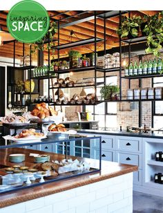 inspiration for our home. This is a cafe called The Grounds in Sydney. I love the rustic industrial style.