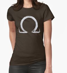 """""""Letter Omega - Silver Edition"""" Womens Fitted T-Shirts by Lidra 