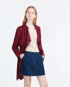 SHORT TRENCH COAT-Coats-WOMAN | ZARA Canada