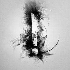 Black | 黒 | Kuro | Nero | Noir | Preto | Ebony | Sable | Onyx | Charcoal | Obsidian | Jet | Raven | Color | Texture | Pattern | Styling | exclamation mark by grohsARTig