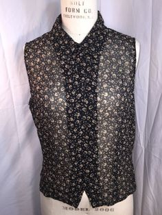 ANN TAYLOR SHEER Sleeveless BLACK FLORAL SILK BLOUSE Career Work Casual 10 EUC #AnnTaylor #ButtonDownShirt