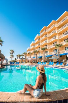 The Oceanfront Resort You Need to Book in Daytona Beach, Florida Places In Florida, Florida Vacation, Florida Beaches, Tropical Beaches, Florida Travel, Mexico Travel, Vacation Rentals, Daytona Beach Hotels, Daytona Beach Florida