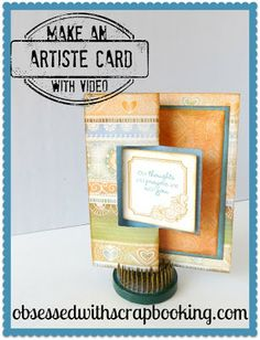 Close to My Heart Artiste Square Swing Card