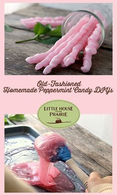 diy Food candy - Old-Fashioned Homemade Peppermint Candy DIYs - Little House on the Prairie Homemade Sweets, Homemade Candies, Homemade Candy Recipes, Homemade Peppermint Candy Recipe, Homemade Ice, Fudge Recipes, Cupcake Recipes, Hard Candy Recipes, Sweet Recipes