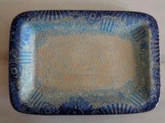 My Blue Heaven Tray by Jo @ Fat Cat Pottery available on Etsy