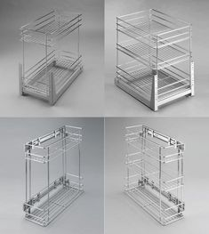 Pull Out Wire Cargo Basket Side/Front Mounting Kitchen Larder Storage Cupboard £40 for 300mm Check size