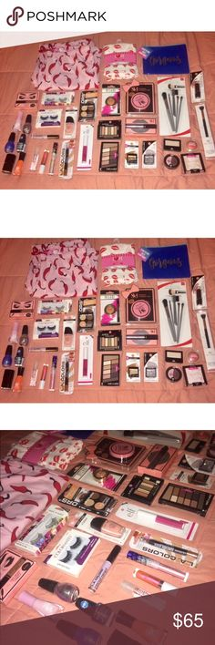 HUGE MAKEUP & BEAUTY BUNDLE LOT NWT✨ OVER 50 PC🎉 MAKEUP & BEAUTY GOODIES LOT✨ OVER 50 PC🎉 ALL NWT & sealed❗I have 5 randomized beauty bundles available!! Face masks, Makeup Bags, PJ's & Limited edition NYX, ELF, Milani, Wet n Wild, Maybelline, Rimmel, LA Colors, Jordana, Sally Hansen & MORE‼️ COMPLETE MAKEUP STARTER KIT ✨✨💋 I ACCEPT ALL REASONABLE OFFERS❗️Shop BUNDLES & MORE on my page ✨ HAPPY SHOPPING 🎉🎉🎉 NYX Makeup