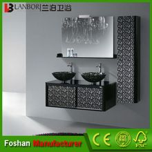 Foshan doble lavabo de madera <strong> baño </ strong> diseño…