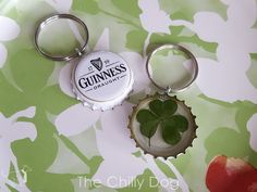 St. Patrick's Day Crafting: Make a simple key chain with Guinness bottle caps and lucky shamrocks