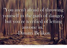 Vampire Academy Quotes   Dimitri Belikov to Rose
