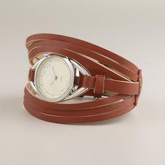 Brown Leather Multi-Strand Watch | World Market