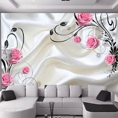 can customized Large 3d art mural Abstract fashion wallpaper pattern room sofa TV backgrounds wall stickers bedroom home decor