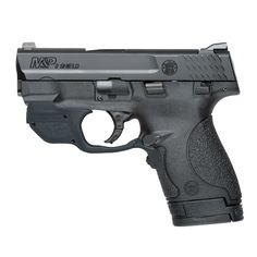 Smith & Wesson 10141 M&P Sheild w/Crimson Trace Green Laserguard Double Black Polymer Grip Black Stainless Steel - BN Hunting Supplies - America's largest online firearms and accessories mall. Smith & Wesson Bodyguard, Smith And Wesson Shield, Smith Wesson, M&p Shield 9mm, Survival Supplies, Fishing Outfits, Guns And Ammo, Weapons Guns, Black Stainless Steel