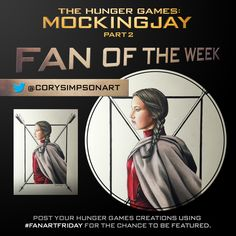 Congrats @CorySimpsonArt, our @TheHungerGames Fan of the Week! Check out his detailed Katniss Everdeen artwork!