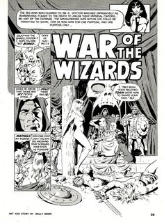 wally wood wizard king | Time Tunnel #1-War Of Wizards (Wally Wood) Horror Tale