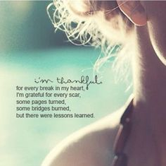 Be thankful. Carrie underwood. Lessons learned