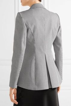 Altuzarra - Acacia Houndstooth Stretch-cotton Blazer - Black - FR40