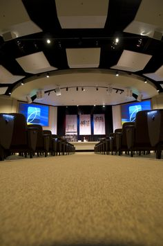 greenwood in sanctuary curtain backdrop center screens on sides church buildingbuilding ideaschurch