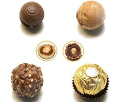 Ferrero Rocher, ricetta perfetta facilissima Homemade Chocolate Bars, Chocolate Truffles, Chocolate Recipes, Ferrero Rocher, Valentine Desserts, Mini Desserts, Low Carb Desserts, Chocolates, Latte