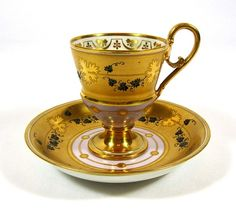 Royal Vienna Ivy Chocolate Cup & Saucer