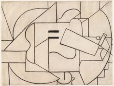"""""""Guitar 1912 Pablo Picasso. Charcoal on paper. Museum of Modern Art, New York."""