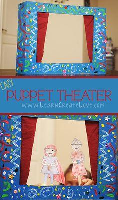Cardboard Puppet Theater | LearnCreateLove.com