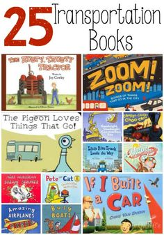 These 25 great transportation books for your transportation theme! These 25 transportation books are a perfect addition to a transportation unit for preschoolers and kindergarteners! Perfect for class library or home. Preschool Books, Preschool Themes, Preschool Classroom, Preschool Activities, Kindergarten Learning, Summer Activities, Classroom Decor, Transportation Theme Preschool, Creative Curriculum