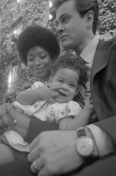 Author Alice Walker, then her husband and her daughter, Rebecca-also an author.