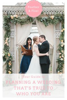 Learn how to plan a wedding that's true to who you are--while creating a heartfelt, inclusive experience for your friends & family--only on Feather & Flint. Wedding Advice, Wedding Planning Tips, Wedding Ideas, Brides With Tattoos, Tattooed Brides, Reem Acra Wedding Dress, Wedding Dresses, Garland Wedding, Wedding Ceremony