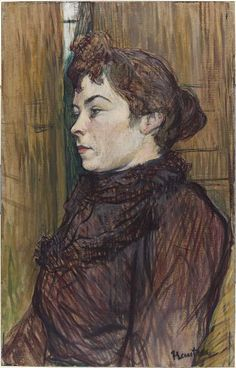 Henri de Toulouse-Lautrec, Augusta, 1890, Harvard Art Museums/Fogg Museum.
