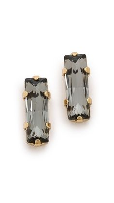 baguette stud earrings / bing bang
