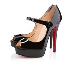 My summer Mary Janes will be bought soon #luvthese #louboutin bana black patent leather