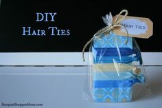 DIY No Snag Hair Ties - So easy and so much cheaper to make than buy at the store. Plus cute printable tag if you wan to make as a gift or party favor.